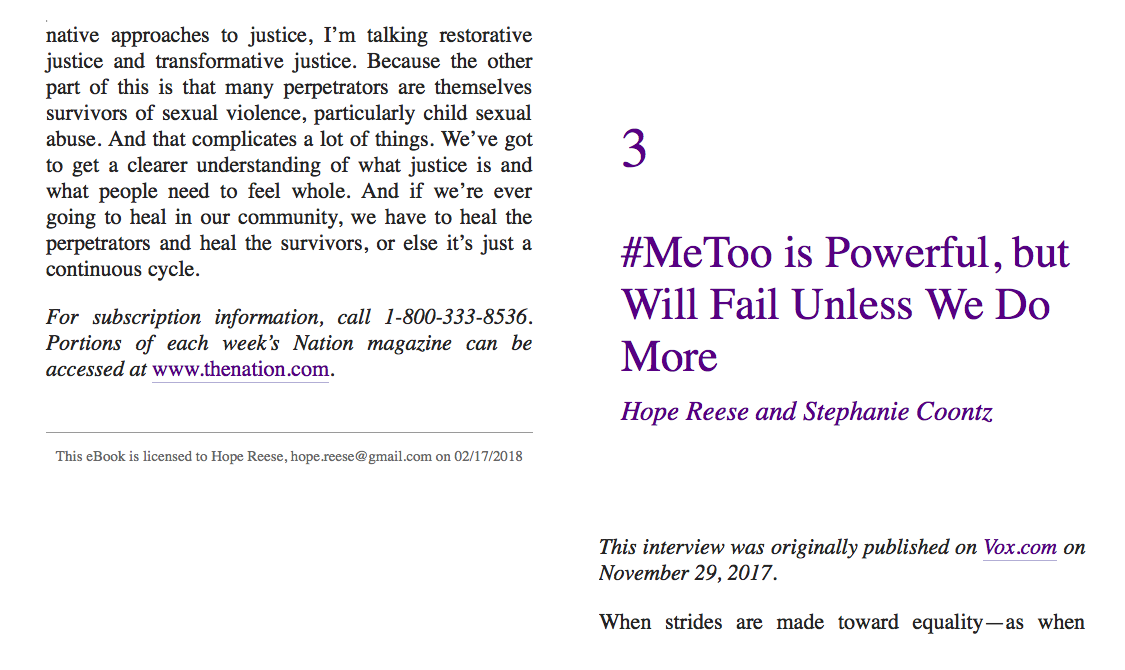 Where Freedom Starts: Sex Power Violence #MeToo A Verso Report
